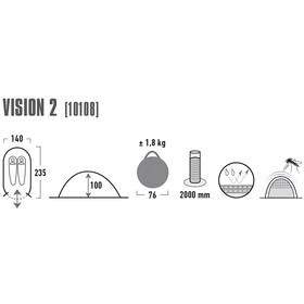 High Peak Vision 2 Namiot, green/phantom
